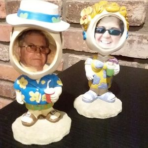 His and Her Summer Bobble Heads